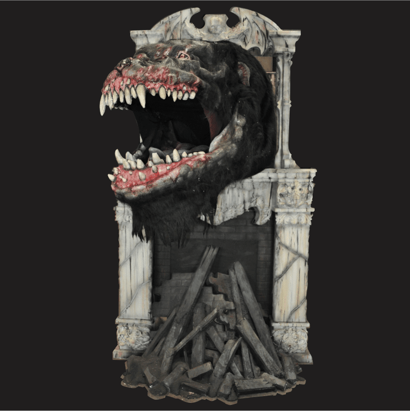 FIX727- Ornate Gothic Fireplace Creature
