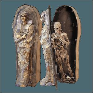 SITE PHOTO - MUM104LR Mummy Opens Upright Coffin
