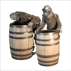 SITE PHOTO - ZMB806 Zombie Puking in Barrel