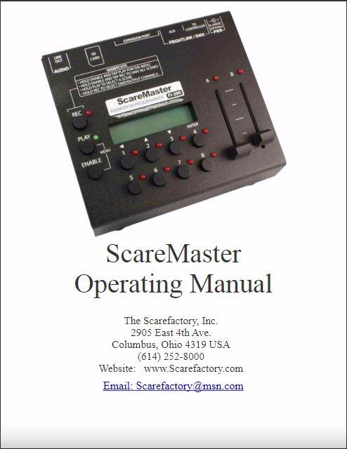 Scare Master Manual Cover