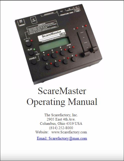 Scare Master Manual Cover